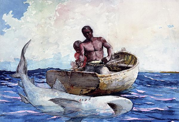 Winslow Homer - Shark Fishing,1885