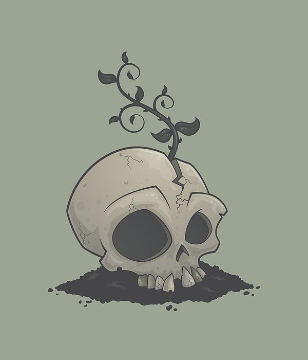 Skull Garden Digital Art