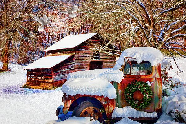 Debra and Dave Vanderlaan - Snow on the Country Farm in HDR Detail