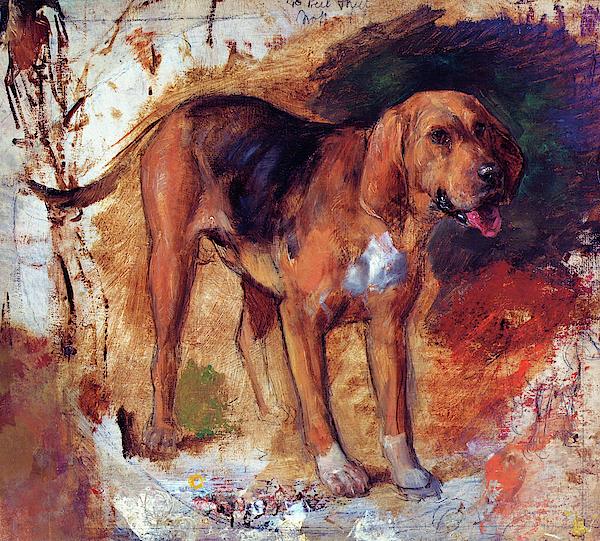 William Holman Hunt - Study of a bloodhound - Digital Remastered Edition