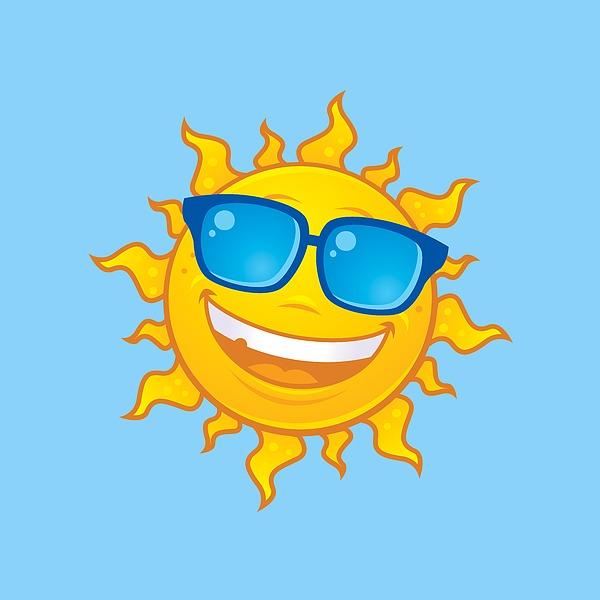 Summer Sun Wearing Sunglasses Digital Art