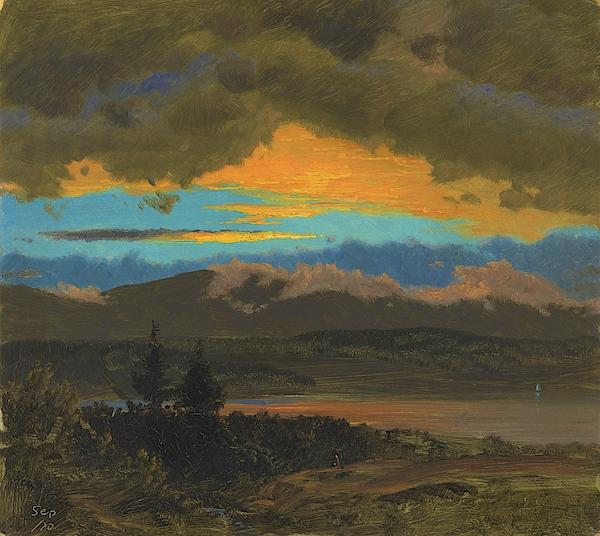 Frederic Edwin Church - Sunset across the Hudson Valley, New York - Digital Remastered Edition