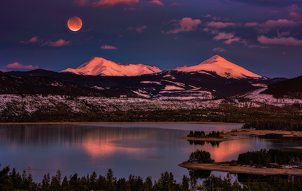 Super Wolf Blood Moonrise Photograph