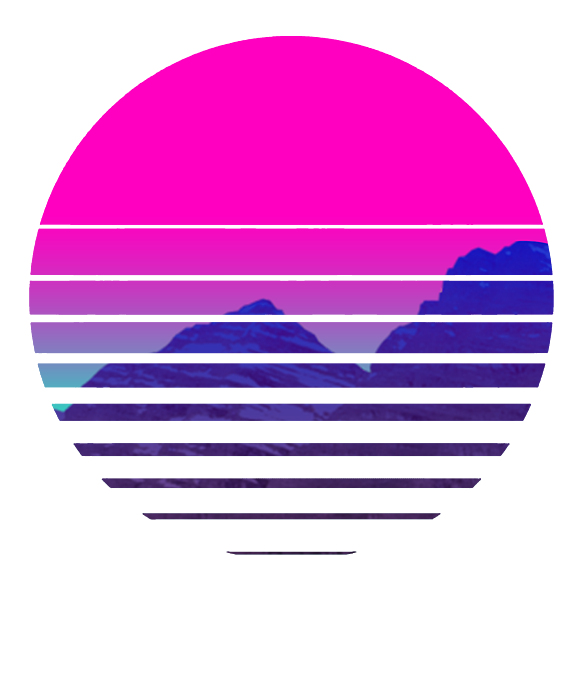 T 500 108 Vaporwave Sunset Mountains Scenery Duvet Cover For Sale