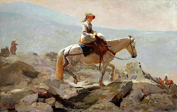 Winslow Homer - The Bridle Path, White Mountains - Digital Remastered Edition