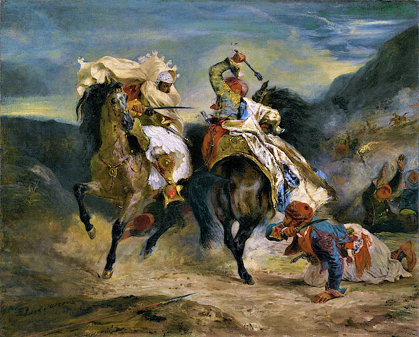 Eugene Delacroix - The Combat of the Giaour and Hassan - Digital Remastered Edition