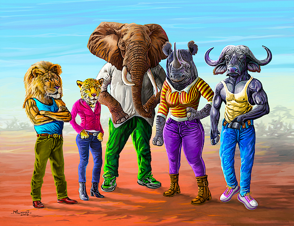 The Cool Big Five Painting
