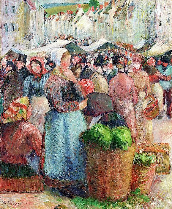 Camille Pissarro - The Gisors Market, Grande-Rue - Digital Remastered Edition
