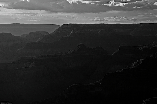 Hany J - The Grand Canyon South Rim Series - Hopi Point - Monochrome