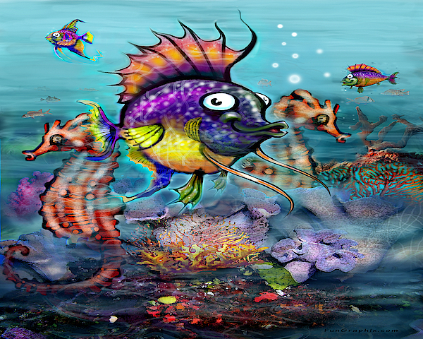 Tropical Fish Digital Art