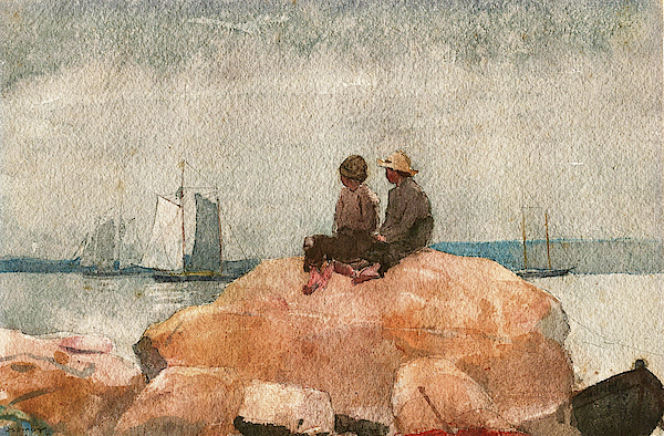 Winslow Homer - Two Boys Watching Schooners - Digital Remastered Edition