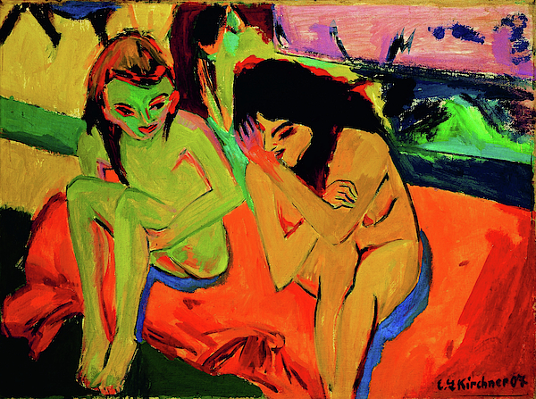 Naked girls i may know Two Girls Naked Girls Talking Digital Remastered Edition Fleece Blanket For Sale By Ernst Ludwig Kirchner