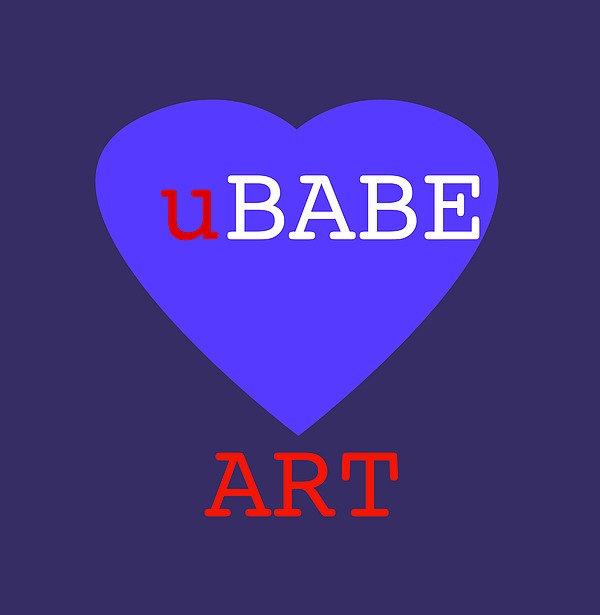uBABE Blue Love Digital Art