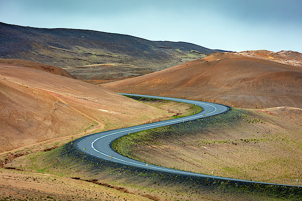 Volcanic Road In Hverir Iceland Photograph
