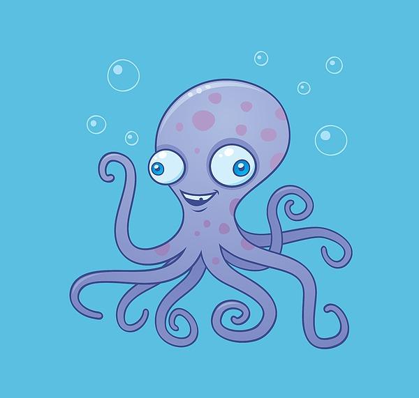 Wacky Octopus Digital Art