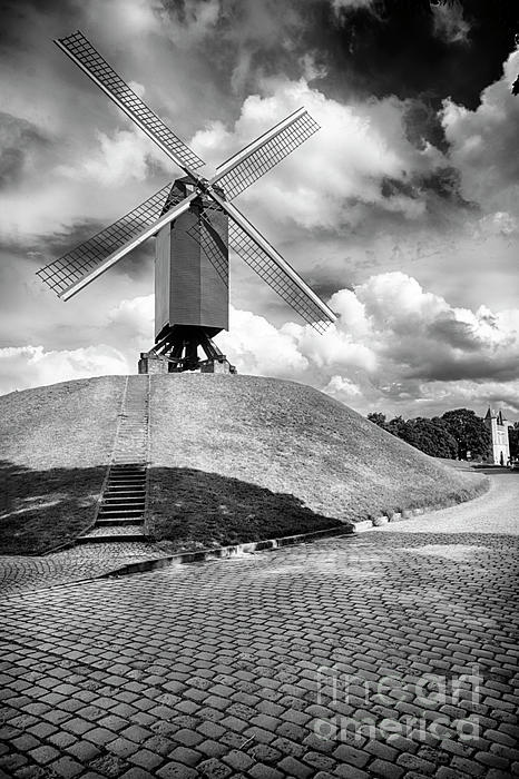 George Oze - Windmill on the Rampart of Bruges