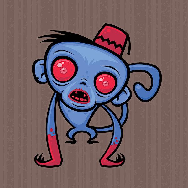 Zombie Monkey Digital Art