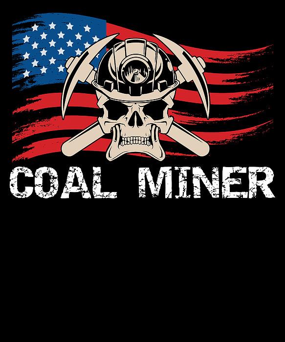 Michael S - Coal Miner Mining Skull American Flag USA