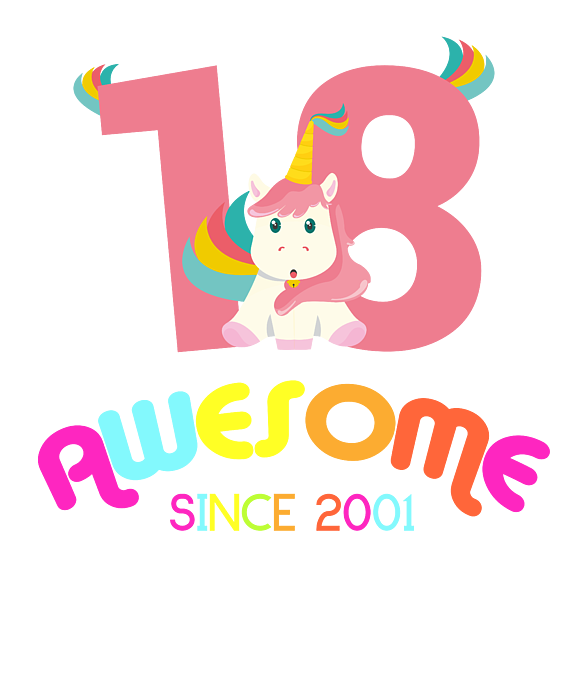 18th Birthday Celebration Gift Awesome Since 2001 Party Birth Anniversary Women S T Shirt For Sale By Thomas Larch
