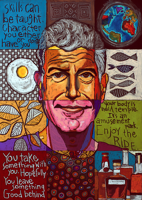 David Hinds - Anthony Bourdain Collage
