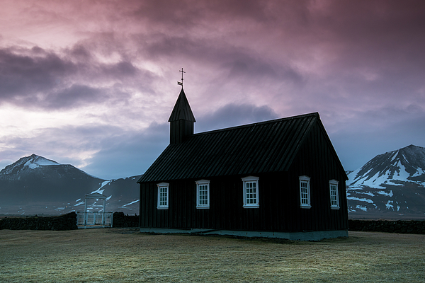 Michalakis Ppalis - Black church of Budir at Snaefellsnes peninsula region in western Iceland.