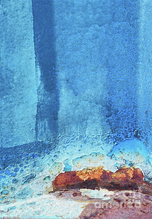 Sharon Williams Eng - Blue Abstract Vertical