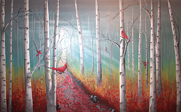Rick Mcclelland - Cardinals in the Birches