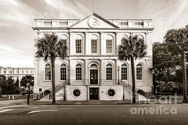 Norma Brandsberg - Charleston Town Hall in Sepia