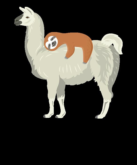 Cute /& Funny Sloth Sleeping On Llama Friend Tote bag