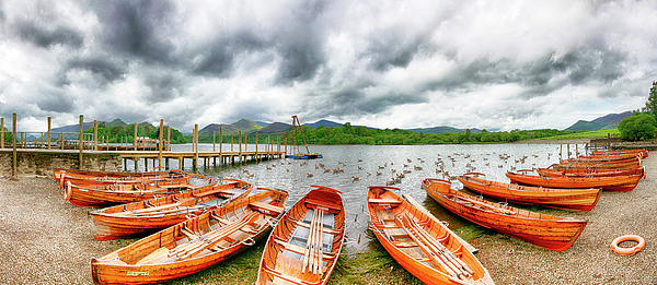 Paul Thompson - Derwent Water Rowing Boats Panorama