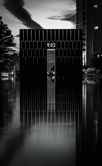 Joan Carroll - First Moment of Recovery Oklahoma City Memorial Night BW