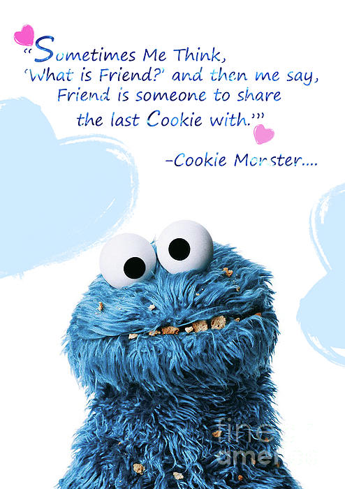 Friendship Is Cookie Monster Cute Friendship Quotes 7 Throw Pillow For Sale By Prar K Arts