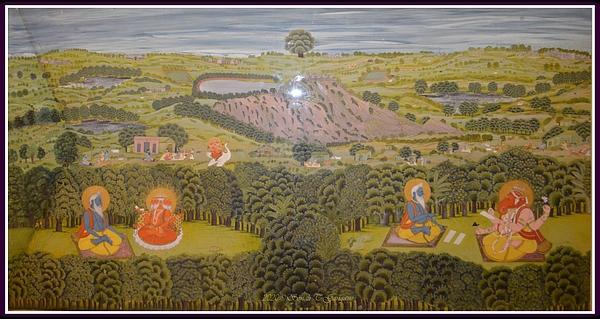 Sonali Gangane - Historical painting of Lord Ganesha writing Mahabharat