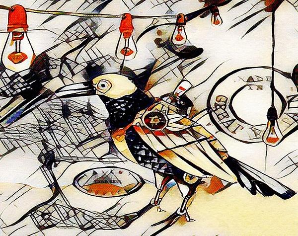 Gert J Rheeders - Kandinskycalia - Abstract Bird And Other Objects L B