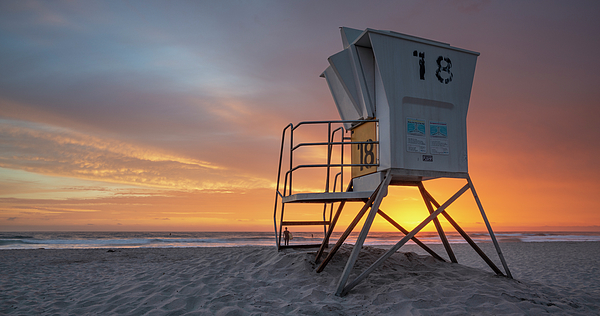 William Dunigan - Mission Beach Lifeguard Tower Sunset