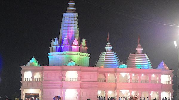 Model Of Ram Temple Photograph