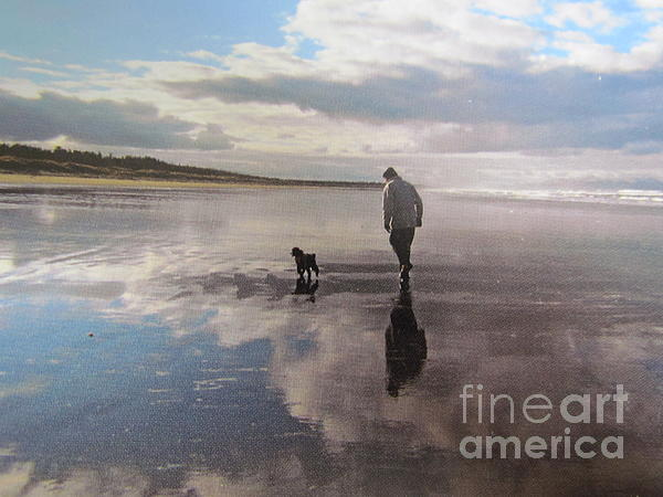 Joyce Woodhouse - morning walk with sophie and Trevor.
