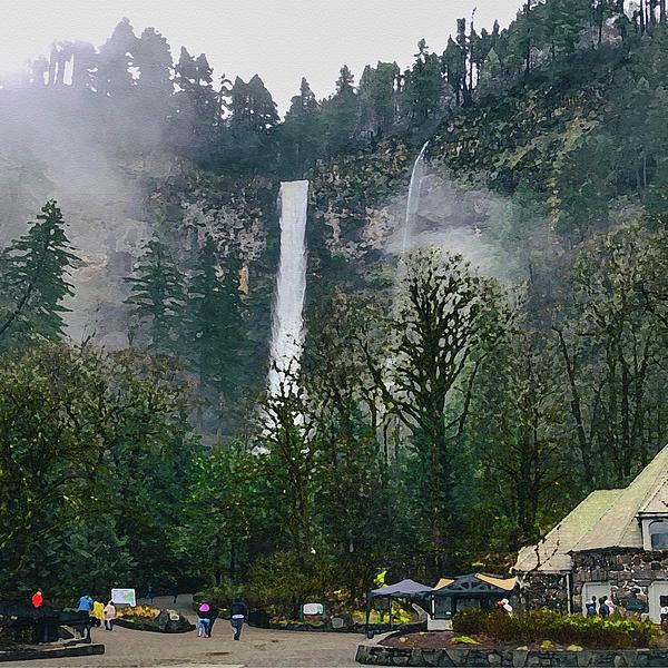 Tatiana Travelways - Multhnoma Falls Oregon watercolor