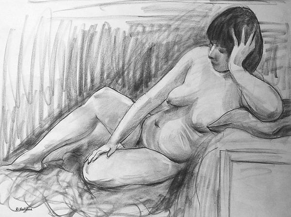 Robert Holden - Nude Female Model Resting Head on Hand