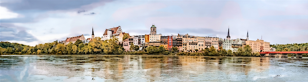 Dean Wittle - Panorama of Wasserburg am Inn - DWP3441958