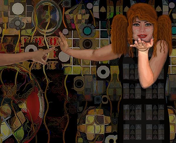 Joan Stratton - Portrait Woman Touch Blow Kiss Laughter