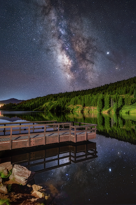 Stargazing Dock Photograph