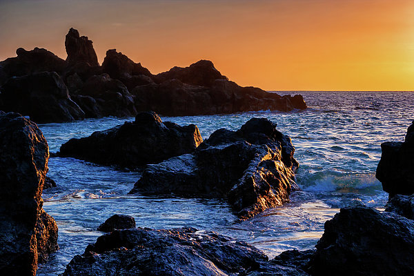 Artur Bogacki - Tenerife Island Rocky Coast At Sunset