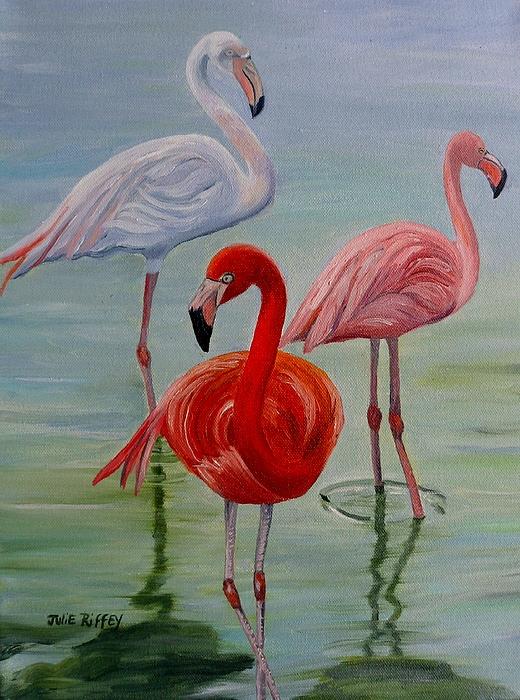 Julie Brugh Riffey - Three Shades of Flamingo