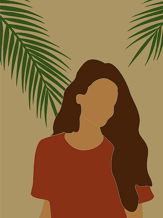 Tropical Reverie Modern Minimal Illustration 07 Girl Palm Leaves Tropical Aesthetic Brown Greeting Card For Sale By Studio Grafiikka This painting was selected to be the month of july in the 2011 horticulture calendar. tropical reverie modern minimal illustration 07 girl palm leaves tropical aesthetic brown greeting card