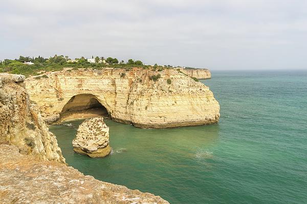Georgia Mizuleva - Vale Covo in Gold and Turquoise - Large Seacave at Carvoeiro Algarve Portugal