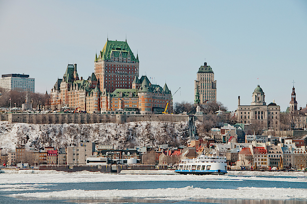 Lieve Snellings - Vieuw Frontenac Castle from the river St Lawrence