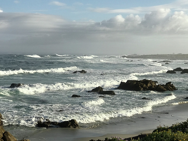 Terry Huntingdon Tydings - Waves Arrive To Kiss The Shore In Pebble Beach