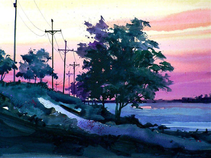 Evening Coast Painting by Art Scholz