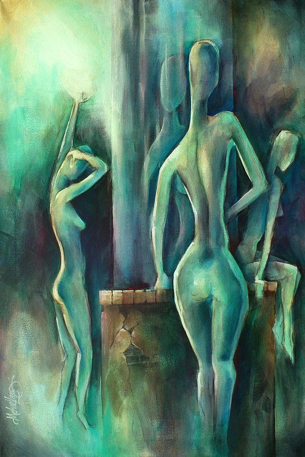 Blue Painting -   Moonlight  by Michael Lang